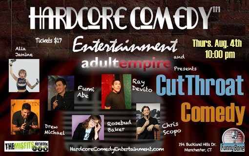 Cutthroat Comedy - August